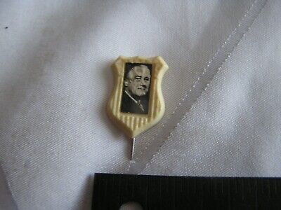 Franklin D Roosevelt FDR campaign pin pinback button political presidential