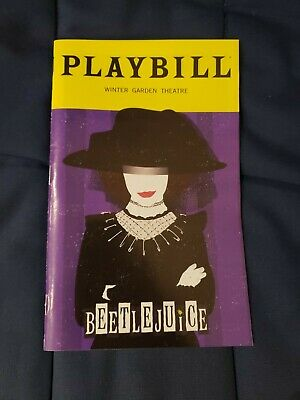 Beetlejuice Musical Broadway January 2020 Exclusive Playbill with Lydia Playbill
