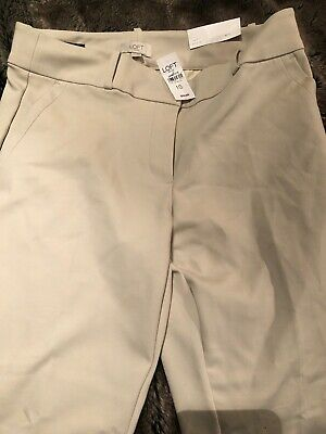 Loft Outlet NWT Womens Flat Front Pant Size 10 Modern Skinny Ankle W/ Pockets