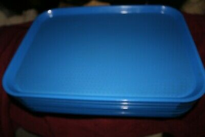Cambro 12 Blue Plastic 12 By 16 Cafeteria Serving Tray Lot Platters