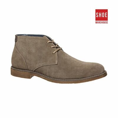 Hush Puppies TERMINAL Neutrals Mens Ankle Boot Casual Suede Leather Shoe
