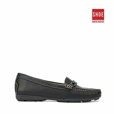 Hush Puppies RENITA Black Womens Loafer Casual Leather Shoe