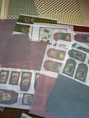 Kameo Cards Vellum Christmas Toppers And Backgrounds Approx 50.Sheets