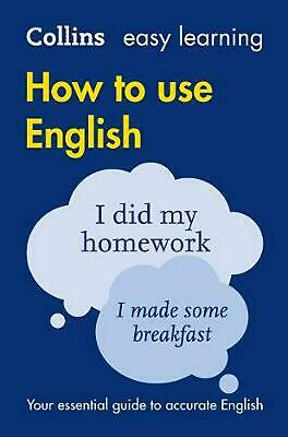 Easy Learning How to Use English by Collins Dictionaries (English) Paperback Boo