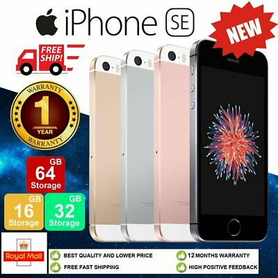 New Apple iPhone SE 16GB 32GB 64GB Unlocked Smartphone + 12 Months Warranty