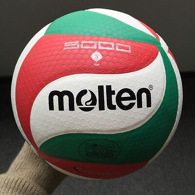 Sport Molten No.5 Volleyball v5m5000 Games Training Ball Soft PU Leather&Pin bag