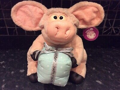 Piggin Happy Birthday large soft toy with tags.