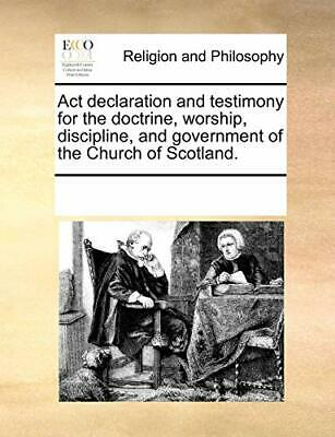Act declaration and testimony for the doctrine  Contributors, Notes PF,,