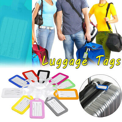 10pcs Travel Luggage Bag Tag Name Address ID Label Suitcase Baggage Tags