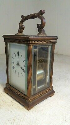 Antique Brass cased 8 day Striking Carriage Clock