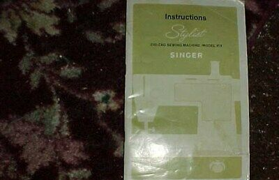 Vintage SINGER Electric SEWING MACHINE Model No. 15-90 Instructions Manual