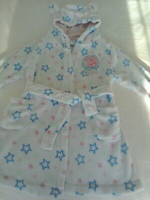 Peppa Pig Dressing Gown Age 2-3 & Disney Princess Slippers Size 6 - By George