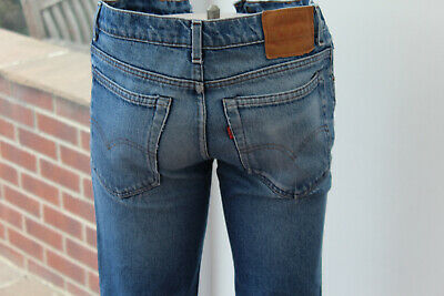 Mens original Levi Strauss 505 W32 L32 Blue Red Tab 32R