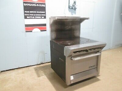 """""""GARLAND M45RC"""" H.D. COMMERCIAL NATURAL GAS FRENCH TOP STOVE w/CONVECTION OVEN"""