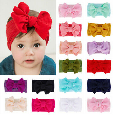Children Headwear Stretch Baby Girl Corn Hair Band Soft Kids Bow Headband