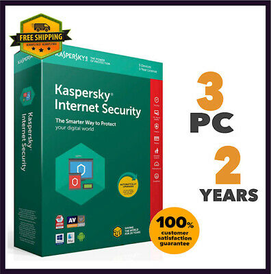 Kaspersky Internet Security Antivirus - 2020 Version 3 PC Device 2 Year