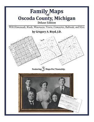 Family Maps of Oscoda County, Michigan, Brand New, Free shipping in the US