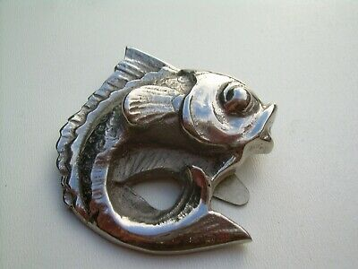 Antique Art Deco Large Keim Ltd Fish Dress Clip.
