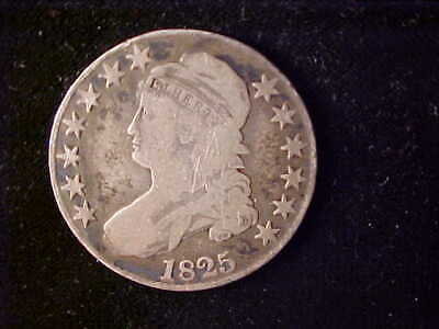 Bust 50 Cents 1825 Corrosion Reverse