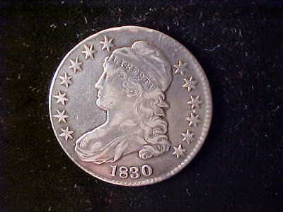 Bust 50 Cents 1830. Cleaned