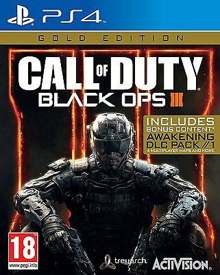 Call of Duty Black OPS 3 Gold Edition (PS4) BRAND NEW SEALED PLAYSTATION 4