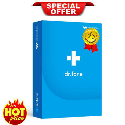 Wondershare Dr.Fone Toolkit V10 For Android & IOS| LifeTime Licence activation🔑