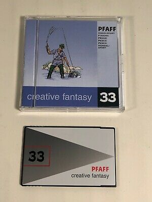 Pfaff Formatted Creative Fantasy Embroidery Card~Fishing