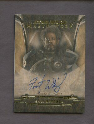2019 Topps Star Wars Masterwork Forest Whitaker Wood Auto /10 Saw Gerrera