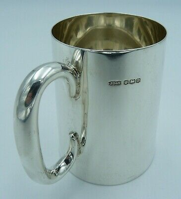 1940's Antique Solid Silver Half Pint Mug (Tankard)