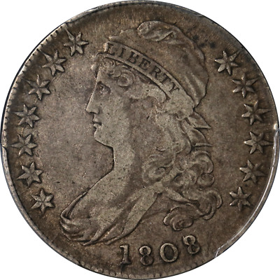 1808/7 Bust Half Dollar PCGS VF25 0-101 R.1 Superb Eye Appeal Nice Strike