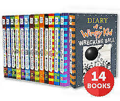 Diary Of A Wimpy Kid Collection Set Of 14 Books By Jeff Kinney. {PDF/EPUB/MOBI}