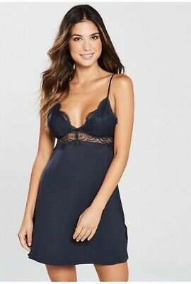 B By Ted Baker Signature Lace Jersey Chemise Size 12 NEW