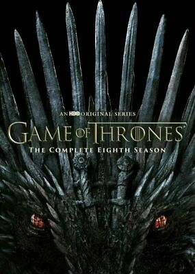 Game Of Thrones: Season 8, ( 2019 DVD 4-Disc ) New Free Shipping
