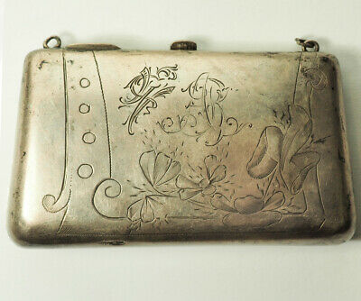 Beautiful antique Imperial Russian 84 silver small clutch purse bag Russia