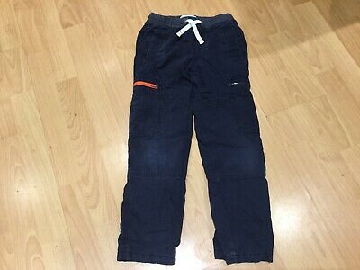 boys mini boden fully lined navy cargo style trousers age 8 years