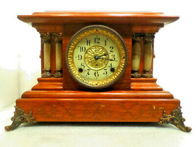 Wonderful 1885 Seth Thomas Red Adamantine Column Mantle Clock