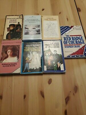 Lot of 7 Classic Paperback Literature Books | VARIOUS AUTHORS, FREE SHIPPING!!!