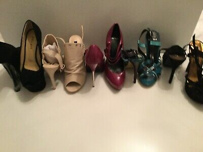 Bundle of Ladies High Heel Stiletto Shoes Size 5 (5 Pairs in total)