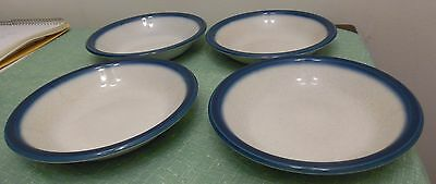 4 Wedgwood Blue Pacific Soup / Oatmeal / Cereal Bowls