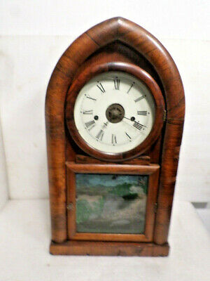 Wonderful Early Waterbury 1870 Striking & Alarm Shelf Clock