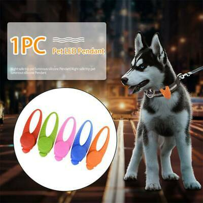 Silicone Pet Dog Cat Puppy LED Flashing Light Collar Pendant Night Safety Lamp