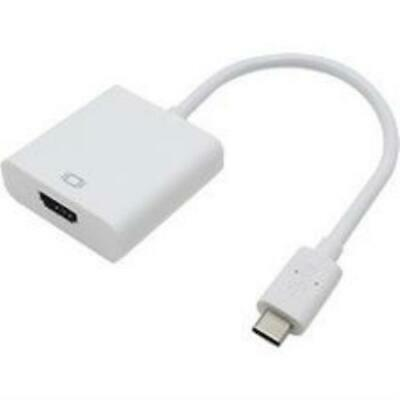 Add-on Addon 20cm (8in) Usb 3.1 Type (c) Male To Hdmi Female White Adapter Cable