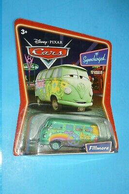 NEW Disney Pixar Cars FILLMORE Supercharged Die-cast toy Car Mattel M1252