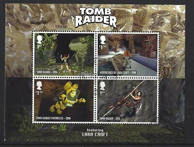 Great Britain 2020 Video Games Tomb Raider Miniature Sheet No Barcode Fine Used