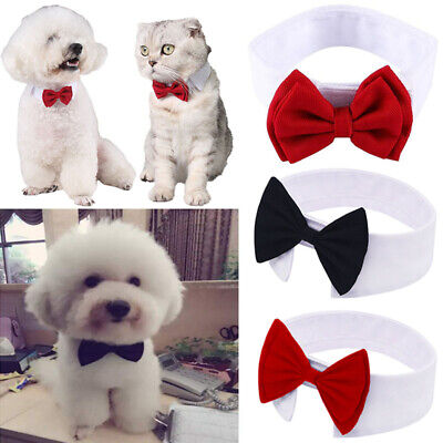 Pet Bow Tie Soft Collar Adjustable Necktie Bowknot Cat Dog Puppy Dickie Necklace