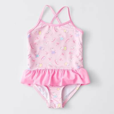 Girls size 4 One piece BATHERS Pink PEPPA PIG  Target  NEW