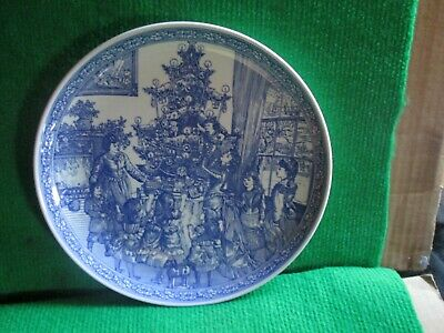 """Spode Blue Room Collection 8"""" Christmas Plate """"Decorating The Tree"""""""