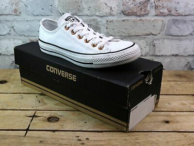 Unisex Converse All Star Chuck Taylor White Leather Plimsolls Trainers Size Uk 5