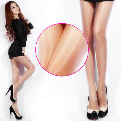 CG_ FT- KF_ HK- Women Sexy Shiny Ultra-Thin Footed Pantyhose Breathable Sheer St