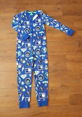 🚀 NWT Boys BLUE ZOO space ALL IN ONE PYJAMAS age 11-12 years New! 🚀